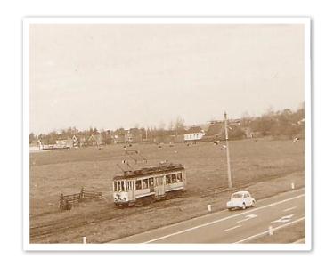 De gele tram; van Haagsche Schouw naar Wassenaar - 22.10.1961. [geleend van website De Gele tram]
