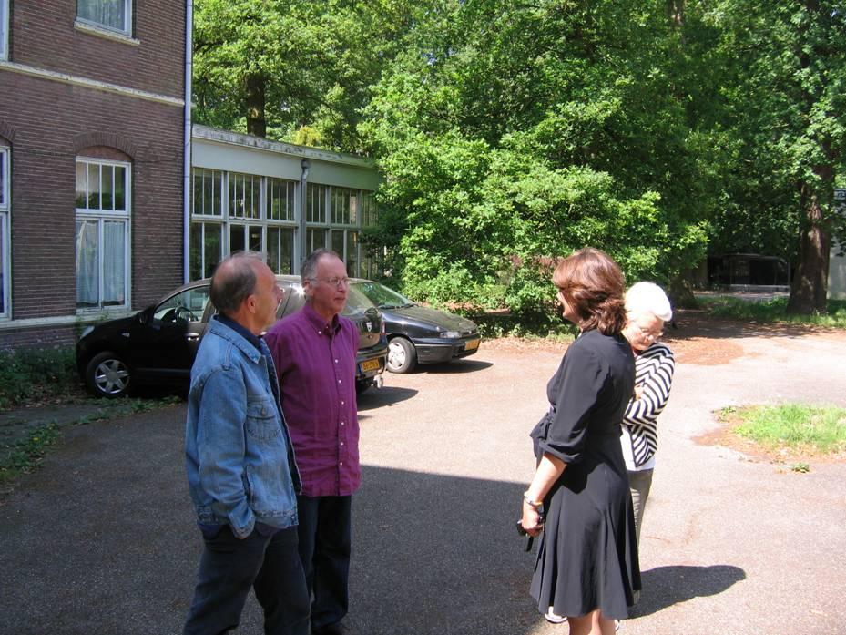 We werden ontvangen door Olga Wagenaar, ontwikkelingsmanager van projectontwikkelaar Amvest, de tegenwoordige eigenaar van het landgoed