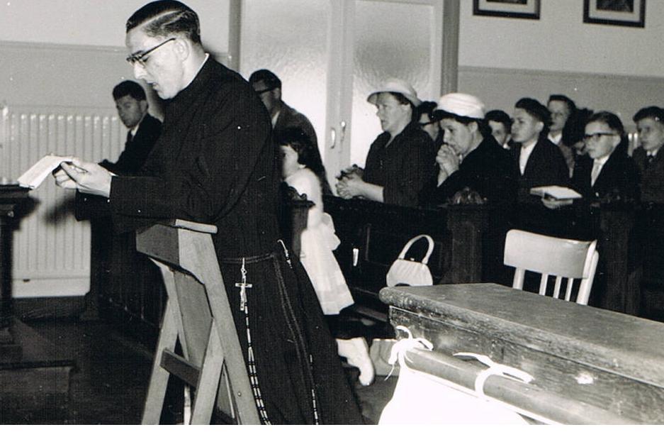 Br. Amandus met zijn familie