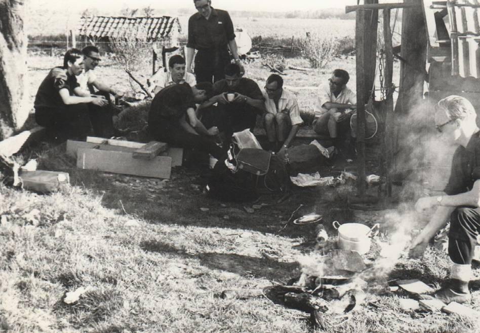 Donderdag 7 juli 1966 Picknick aan het eind van het studiejaar